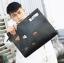 Pre-order กระเป๋าถือและสะพายข้าง แฟชั่นเกาหลี รหัส Man-8890 สีดำ thumbnail 1