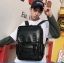 Pre-order กระเป๋าเป้สะพายหลัง ผู้ชายกันน้ำได้ แฟชั่นเกาหลี หนัง PU รหัส Man-6536 สีน้ำตาล thumbnail 2