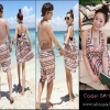 PRE-ORDER ชุดว่ายน้ำคู่รัก ญ.บิกินี่(2)+เดรสชายหาด/ช.กางเกงชายหาด รวม 4 ชิ้น