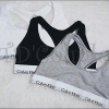 พร้อมส่ง เสื้อกล้าม(บรา)ทรง Sport Bra/กางเกงในทอม CK ผ้าฝ้ายยืดออกแบบแฟชั่นขอบขาวสวย (ไม่ร่วมกับ P.ฉลองร้านครบรอบ 3ปี)