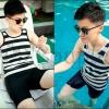 PRE-ORDER ชุดว่ายน้ำทอมแฟชั่นใหม่ เสื้อกล้ามเต็มตัวมาพร้อมกับกางเกงขาสั้น ชุดว่ายน้ำสำหรับทอมโดยเฉพาะ