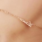 สร้อยข้อเท้า จี้อักษร LOVE + รูปหัวใจ