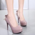 รองเท้าคัทชูส้นสูงแขวนคริสตัลสำหรับสาวหวาน