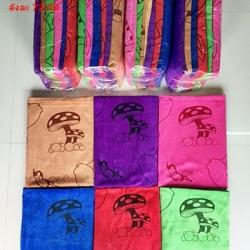 ขายส่ง ผ้าเช็ดตัวนาโน จัมโบ้ พิมพ์ลาย (แบบหนา) ส่ง 67 บาท (72 ผืน)
