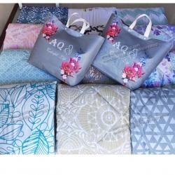 ขายส่ง ผ้าห่มนวม แบบหนา พิมพ์ลาย AQ ส่ง 240 บาท