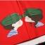 พร้อมส่ง-เสื้อคู่รักแฟชั่น ลายน่ารัก สีแดง ชาย XXXL หญิง M *ราคาขายเป็นคู่* thumbnail 3