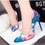 รองเท้าคัทชูส้นสูงลายพิมพ์ดอกไม้หรูหรา 2018 thumbnail 1