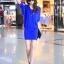พร้อมส่ง-เดรสแฟชั่น โชว์ช่วงแขน สีน้ำเงิน (สีไม่สดเท่าในรูป)เซกซี่ thumbnail 3