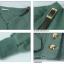 พร้อมส่ง-เสื้อกันหนาวแฟชั่น สีเขียว ฟรีไซด์ thumbnail 6