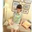 พร้อมส่ง-เสื้อแฟชั่นชีฟอง ลายดอก สีเขียว น่ารักๆ thumbnail 5