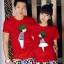 พร้อมส่ง-เสื้อคู่รักแฟชั่น ลายน่ารัก สีแดง ชาย XXXL หญิง M *ราคาขายเป็นคู่* thumbnail 1