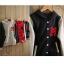 พร้อมส่ง-เสื้อคลุมกันหนาว แขนยาว ผ้าฝ้าย ขนแกะ มีฮูด ซิปหน้า สีดำ น่ารัก thumbnail 21