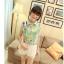 พร้อมส่ง-เสื้อแฟชั่นชีฟอง ลายดอก สีเขียว น่ารักๆ thumbnail 2