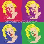 ภาพMarilyn Monroe(มาริลิน มอนโร)3 กรอบลอย 40x40 cm.