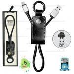 สายชาร์จพวงกุญแจ Remax RC-034m หัว Micro USB สีดำ