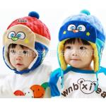 หมวกเด็กผ้านิ่มๆ มีที่ปิดหู ด้านในนุ่มนิ่ม มีสองสีค่ะ