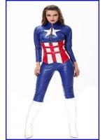 ชุดกัปตันอเมริกาหญิง แบบกางเกง