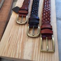 เข็มขัดหนังถัก Homme's (Knit Leather)