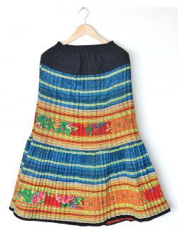 """Hilltribe Maxi Skirt - Blue 1 (Waist 24-40"""")"""