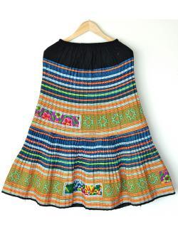 """Hilltribe Maxi Skirt - Blue 2 (Waist 24-40"""")"""