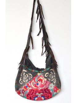 "Handicraft Leather Cross-body Bag (14x17"")"