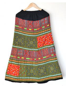 "[QC] Hilltribe Maxi Dress - Red & Green (Waist 24-36"")"