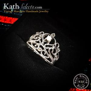 Queen Crown Marcasite Silver Ring (สัญลักษณ์ความรุ่งเรือง)