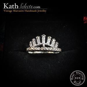 Apatsara Crown Marcasite Silver Ring (สัญลักษณ์ความรุ่งเรือง)