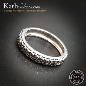 Classic Marcasite Silver Ring