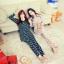 ชุดนอนเกาหลี เสื้อแขนยาว กางเกงขายาว ลายแมว สีเหลือง thumbnail 8