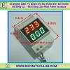 1x Digital LED 7's Segment AC Voltmeter Ammeter 80-300V 0.1 - 99.9 Amp Din-Rail Panel module