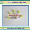 5x LED Yellow Color 3mm (แอลอีดีสีน้ำเหลือง 3มม 5 ตัวต่อชุด)