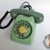 โทรศัพท์สีเขียวแนววินเทจ