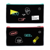 TABOM NEON DOUBLE ZIPPER PENCIL CASE