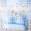 ชุดที่นอนเด็กฟองน้ำ กันไรฝุ่น Cotton 100 % ขนาด 55 x 92 x 6 cm.
