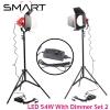 SMART 54W LED Red Head with Dimmer (แสงขาว 5500K) Set 2