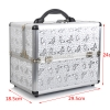 Professional Aluminium Makeup Cosmetic Box Vanity Caseสีเงินลายผีเสื้อ