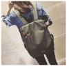 กระเป๋าเป้ Pocket Flap style สีเขียวขี้ม้า