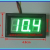 1x Digital DC Voltmeter 0-99.9 Vdc 3 Wires 0.56 Inch Module (Green Color)