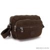กระเป๋าสะพายข้างสายยาว สีน้ำตาล