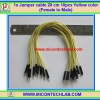 1x Jumper (F2M) cable 20 cm 10pcs Yellow color (Female to Male)