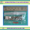 4x Metal PCB Pillars 10 mm with 8x M3 Nuts (เสารองแผ่นพีซีบีโลหะแบบเหลี่ยมพร้อมน็อตยึด)