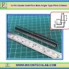 1x Male Pin Header 2x40 Pins Male Angle Type Pitch 2.54mm