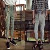 PRE-ORDER กางเกงขายาวแฟชั่นใหม่ กางเกงขายาวลำลองพร้อมสายเอี๊ยม(ถอดออกได้) ออกแบบแนวสีสันเรียบง่าย