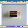 1x Male DB9 9 Pins RS232 Connector Solder Type