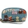 กระเป๋าสตางค์ Chalita wu สีเขียวแมวคู่