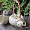 ชุดกาน้ำชาพร้อมถ้วยของเก่า