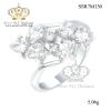 แหวนเพชรcz ประดับเพชร CZ แหวนดอกไม้ ดีไซน์สวยหรูดูแพง สวมใส่มิกซ์แอนด์แมตช์เข้ากับโอกาสต่างๆ ได้ โดดเด่นมั่นใจ