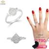 แหวนเพชร ประดับ เพชรCZ แหวนทองคำขาว แหวนทรงรูปกาน้ำ ก้านแหวนเพรียวบาง ทรงสวยโดดเด่น ดีไซส์ออกแบบน่ารัก เก๋ๆบวกเรียบหรูสำหรับสวมในโอกาสสำคัญต่างๆ