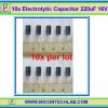 10x Electrolytic Capacitor 220uF 16V (10pcs per lot)